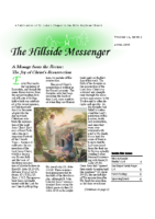 Hillside Messenger – April 2018