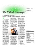 Hillside Messenger – August 2019