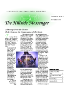 Hillside Messenger – November 2018